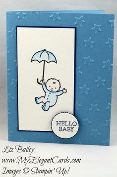 My Elegant Cards - Liz Bailey - Independent Stampin' Up! Demonstrator - Moon Baby - Layering Circles Framelits Dies