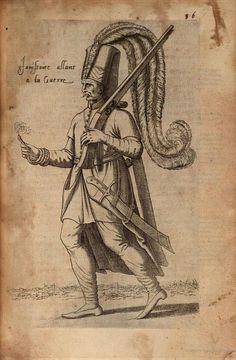 Janissary, from The first four books of the East Navigations and peregrinations, Nicolas Nicolai (Les quatre premiers livres des Navigations et peregrinations Orientales. Auec les figures au naturel tant d'hommes que de femmes ), 1568.