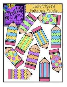 Free Spring Patterned Pencils!! Personal or commercial use :)