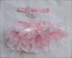 Parley hermoso rayo rosa y pañal blanco de raso y por ParleyRay