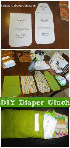 DIY Diaper Clutch Tutorial with template/pattern. #diaperclutch #sewing #freepatterns