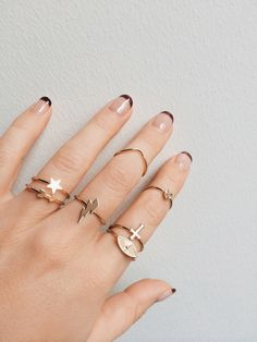 Some of our FAVORITE rings from the #BingBangxUO collab. Stack em up! (14k heavy gold plated - BB quality at UO prices! SCORE!).