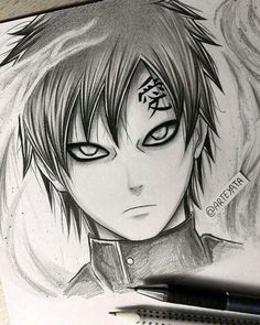 Gaara hand drawing By Arteyata