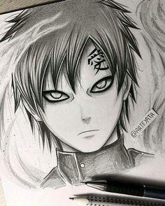 Gaara hand drawing  By Arteyata