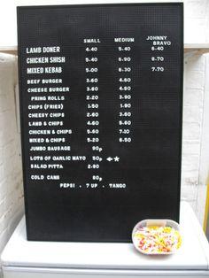 pegboard menu sign | eBay
