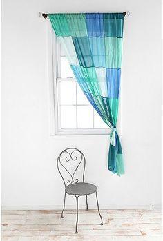 colorblock patchwork curtain.