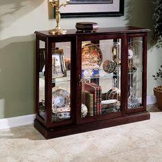 Pulaski Furniture Keepsakes Console Curio Cabinet