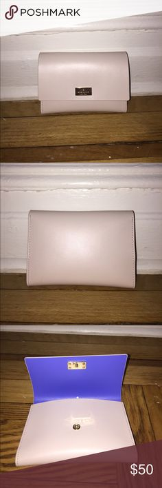 Kate Spade Arbour Hill Wallet Smooth, blush leather wallet. Middle zipper compartment. kate spade Bags Wallets