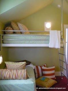 HGTV Dream Home 2010 kids bunk room  - custom made from job site leftover materials