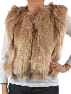 Vest Russian Style Ribbed Soft Fur Vest Single Hook Closure