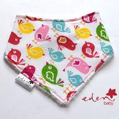 Tweet Tweet Eden Baby Drib Bib  https://www.etsy.com/au/listing/184265523/tweet-tweet-eden-baby-drib-bib?ref=shop_home_active_2