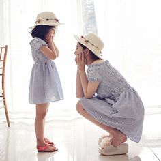 3285c861d2966 Mother Daughter Gingham Off the Shoulder Dress. Vêtements ...