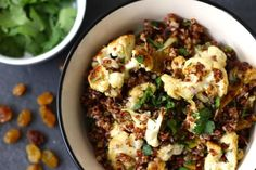 Spice-Roasted Cauliflower With Quinoa