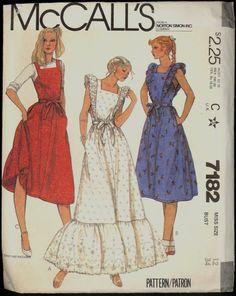 1980s Size 12 Bust 34 Back Wrap Jumper Apron by VintagePatternsCo1