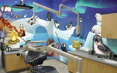 Winter themed treatment room for a Pediatric Dental Practice by Imagination Dental Solutions