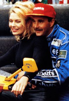 With Nigel Mansell, 1992.