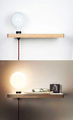 L'idée déco du dimanche : une table de chevet DIY lumineuse !