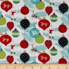 25 Days of Christmas Toile White from @fabricdotcom  Designed by Anne was Here for Clothworks, this cotton print is perfect for apparel, quilting and home decor accents. Colors include black, grey, navy, shades of red, shades of green, shades of blue, taupe and beige.