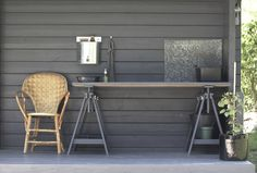 time of the aquarius / very simple outdoor wash basin + table