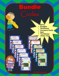 Save 50% on this Geometry bundle that includes every resource from the Circles unit.