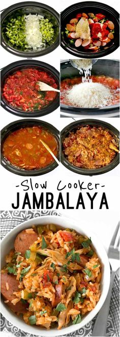 Slow Cooker Jambalaya has all the big flavor of the classic Louisiana dish with half the effort. BudgetBytes.com Best Slow Cooker, Crock Pot Slow Cooker, Crock Pot Cooking, Slow Cooker Recipes, Cooking Recipes, Healthy Recipes, Delicious Recipes, Crockpot Meals, Cooking Tips