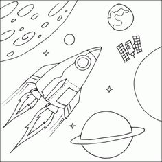 outer space coloring pages are the fun ideas to let children learn more about science outer space is limitless nobody can find the limit of - Space Coloring Pages Toddlers
