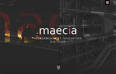 Maecia - Go ahead – click the hamburger icon… didn't expect that did you? Maecia, out of Paris has a great site that combines old and new, from the 1800's industrial line art to the animated svgs and video backgrounds and motion when you're not expecting it. The menu coming from the hamburger is a good parallel to the trend of using the home page as navigation (and mouse over the middle Maecia / Welcome button for some added video background).
