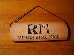 RN MEANS REAL NICE Bandage Magnet Sign Nurse Home Wall Decor Gift NEW