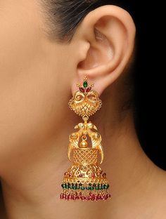 Sterling Silver Jewelry From Israel Refferal: 5978961552 Gold Rings Jewelry, Jewelry Design Earrings, Gold Earrings Designs, Gold Jewellery Design, Gold Bangles, Gold Designs, Silver Bracelets, Silver Ring, Gold Jhumka Earrings