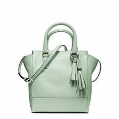 @coach mini leather tanner in mint --so chic