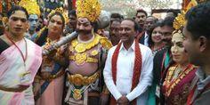Telangana Finance Ministger, Eatala Rajender attended the International Crafts Mela at Surajkund, Faridabad, Haryana today as the Telangana selected as theme