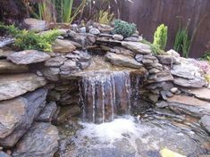 It's not difficult to create a waterfall pond feature rather than the conventional pond. With this small waterfall pond landscaping ideas you will inspired to make your own small waterfall on your home backyard. Outdoor Waterfalls, Outdoor Ponds, Ponds Backyard, Garden Ponds, Waterfall Design, Garden Waterfall, Small Waterfall, Outdoor Water Features, Water Features In The Garden