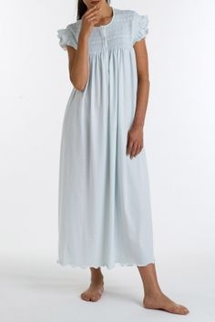 f4b4efd5e2 P.Jamas Aurora Embroidered Long Gown ~ My Favorite thing to sleep in.