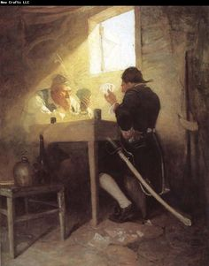 At the Cards in Cluny-s Cage NC Wyeth Wholesale Oil Painting China Picture Frame 35036 Jamie Wyeth, Andrew Wyeth, Illustrations, Illustration Art, American Illustration, Nc Wyeth, Howard Pyle, Traditional Paintings, American Artists
