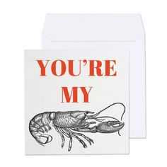 Printable Card - You're my Lobster