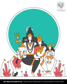 12 Dimensions of Shiva portrayed in Art Deco Outline Illustration Style by Vinodhini Indian Contemporary Art, Bike Prices, Lord Shiva Painting, Satanic Art, Outline Illustration, Art Optical, Cute Paintings, Lord Ganesha, Indian Gods