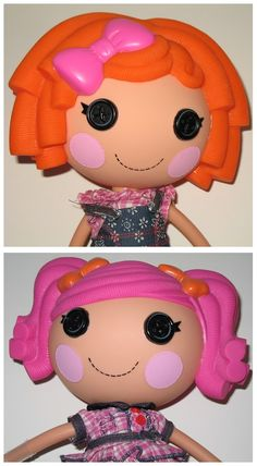 How adorable are Lalaloopsy dolls? Check out  the characters Berry Jars n Jams and Sunny Side Up shown here. I am impressed. Lalaloopsy dolls were one of the most popular toys of the holiday season in 2010. Now they're collector's items, much sought after and you can see why. Repin this post if you love Lalaloopsies! #lalaloopsy #dolls