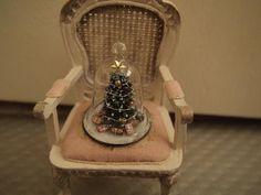 Miniature Christmas Tree Under Glass Cloche
