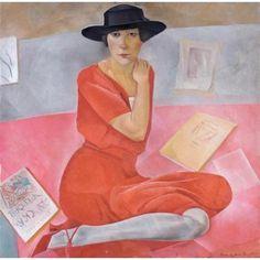 Boris Grigoriev  Salome Andronnikova, c. 1924.  Boris Grigoriev was a Russian painter and graphic artist.