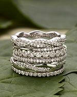 Tiara Eternity Diamond Ring in 18K White Gold