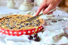 Browned Butter Cherry Tarte (alternatively with Raspberries and Blueberries)