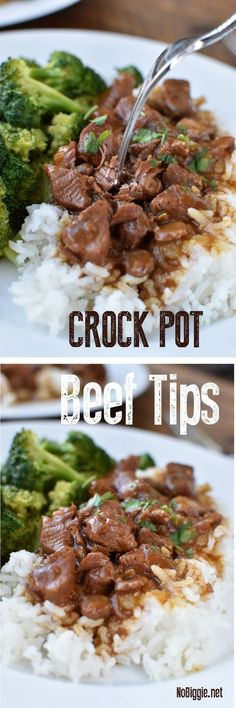 Easy Crock Pot Beef Tips | NoBiggie