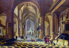 8 октября. Interior of a Church by Bartholomeus Corneliszoon Van Bassen (1590-1652)
