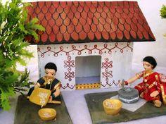 ideas for doll house ideas diy inspiration Ganapati Decoration, Decoration For Ganpati, Janmashtami Decoration, Homemade Dolls, American Girl Diy, Wedding Doll, Indian Dolls, Quilling Paper Craft, Wedding Gifts For Bridesmaids