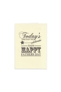 Father's Day is on Sunday 7 September - don't forget to get Dad a card!  Katie Leamon - Father's Day Cards - Today's The Day - NoteMaker Stationery