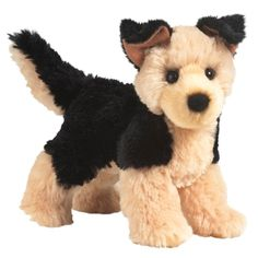 Sheba the Little Plush German Shepherd by Douglas at Stuffed Safari (11 CAD) ❤ liked on Polyvore featuring stuffed animals, toys, dog and stuffed toys