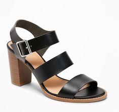 b377ac37ff Old Navy Three-Strap Block-Heel Sandals for Women