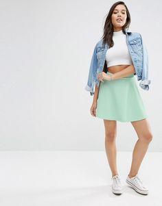 ASOS   ASOS Skater Skirt in Texture at ASOS