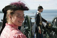 Costumed Interpreters at Fort Mackinac, Mackinac Island, MI