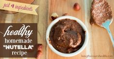 Healthy homemade nutella recipe with just 4 ingredients - livingthenourishedlife.com